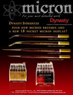 Dynast Micron Artist Brushes - For Detailed Artwork